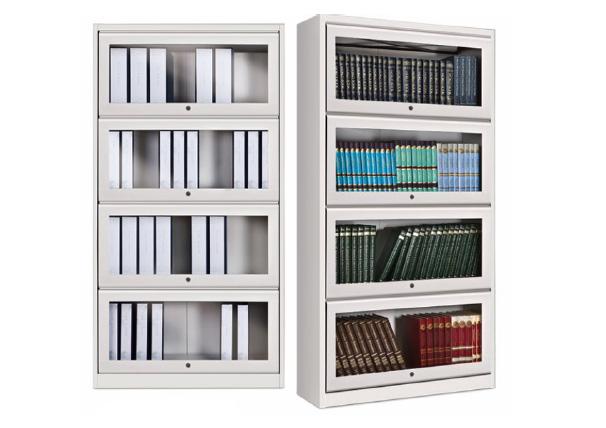 Nilkamal Glaze Four Compartment Book Case