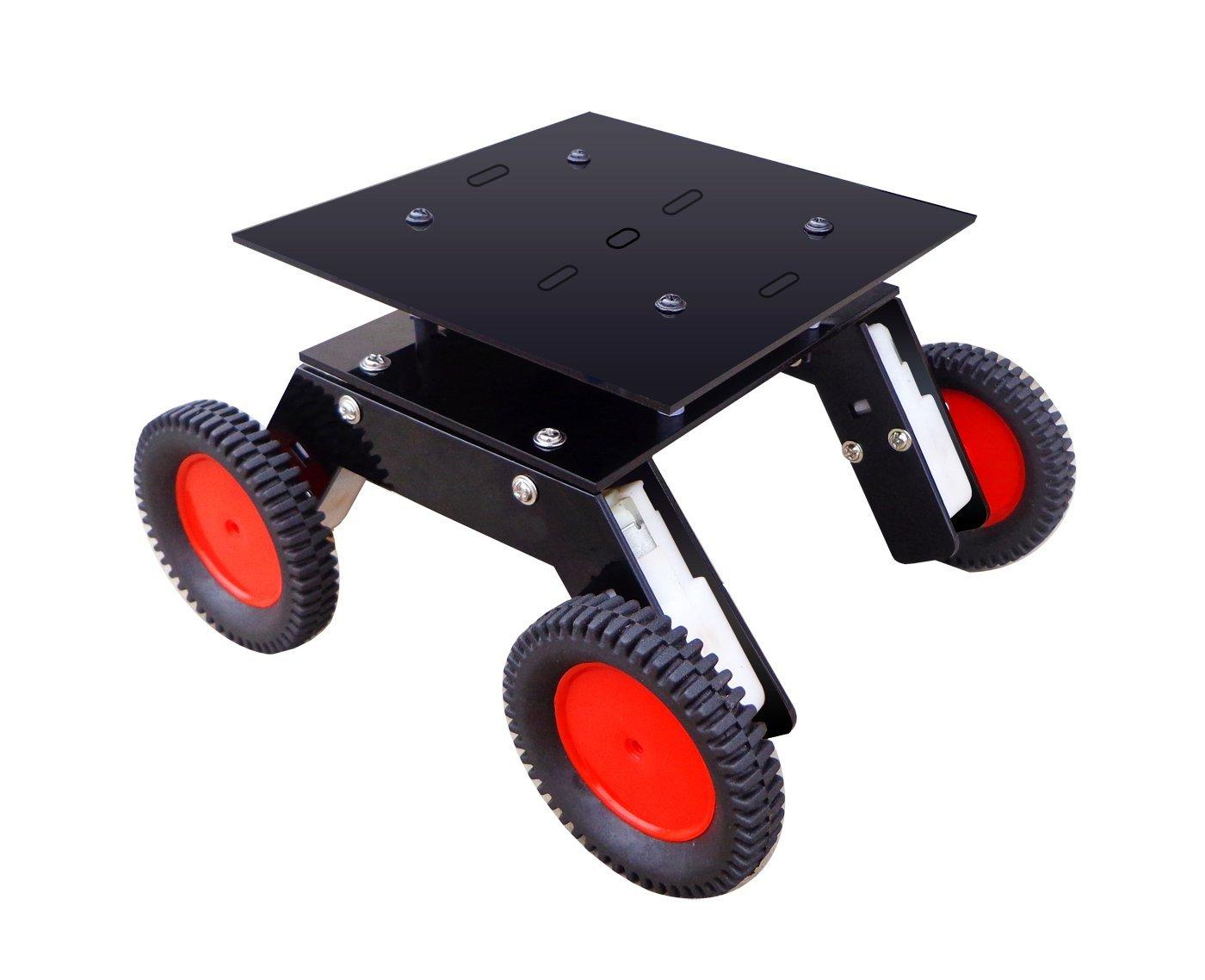 NASA Tech Multipurpose 4 Wheel Double Layer Robotic Chassis B01KTHX9OW