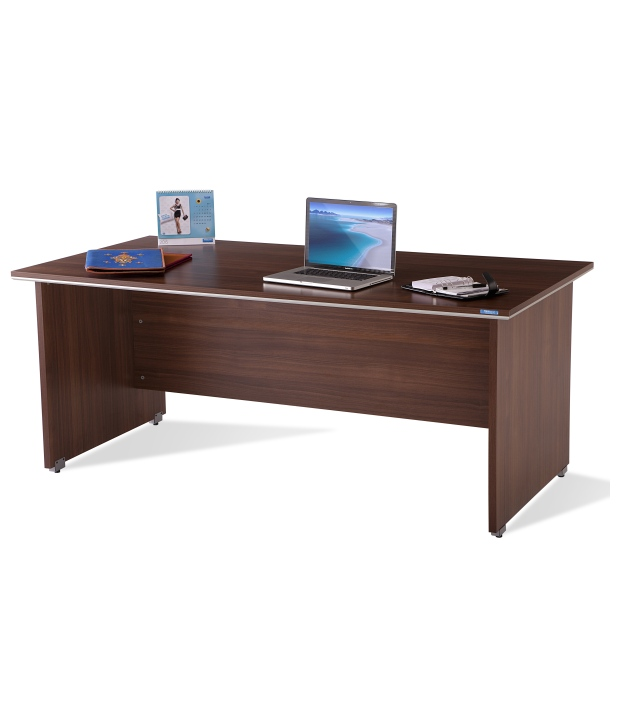 Buy Nilkamal Office Table Walnut Nortis FT FLOTNORTISWSWAWLT - 4 feet office table