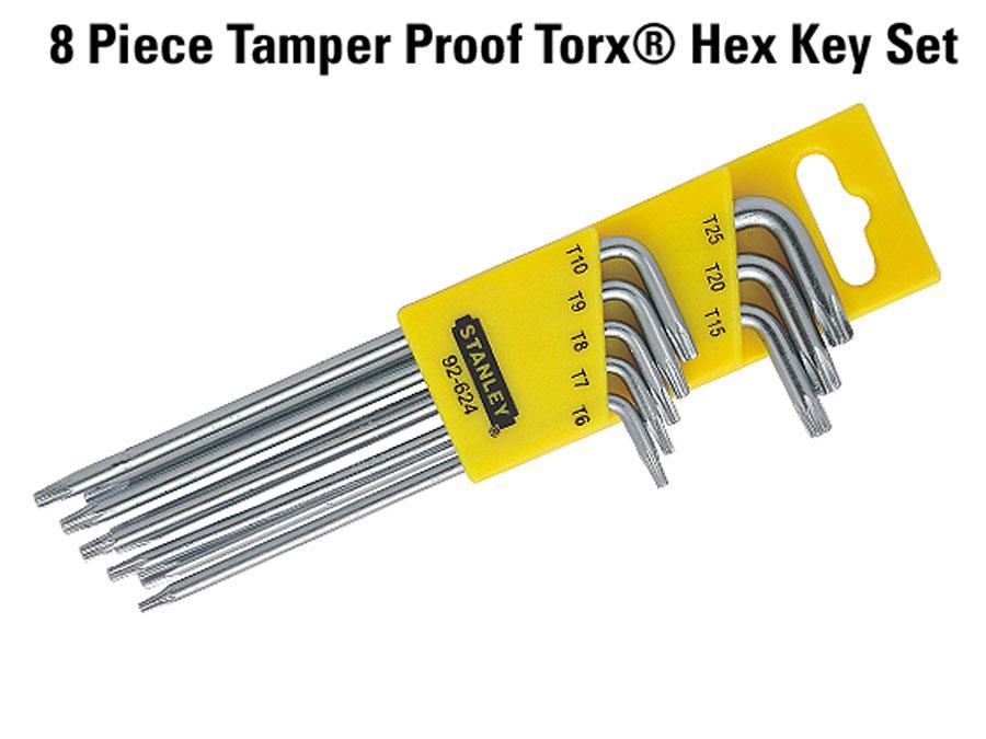Buy Stanley Allen Long L Type Tamper Proof Torx Key Set 8 Pcs 92 624
