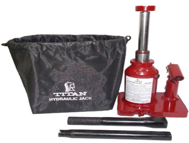Titan Tools Double Lift Hydraulic Bottle Jack Capacity 2 Ton