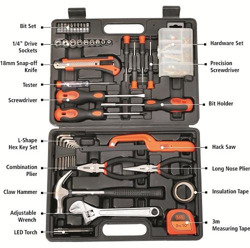 3ce4bde6e Buy Black   Decker Hand Tool Kit 126 Pcs BMT126C Orange Black Online in  India at Best Prices