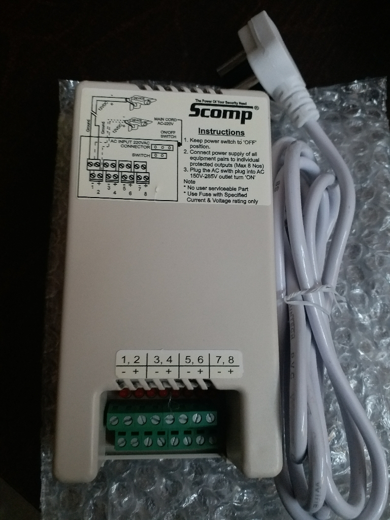 Standard CCTV SMPS Power Supply