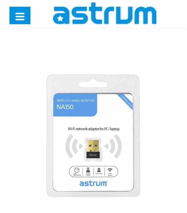 ASTRUM NA150- NANO WIFI NETWORK ADAPTOR WITH 1 YEAR WARRANTY