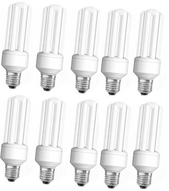 Buy Halonix 11w 10pcs E27 Screw Type Cfl Bulb Warm White Online In