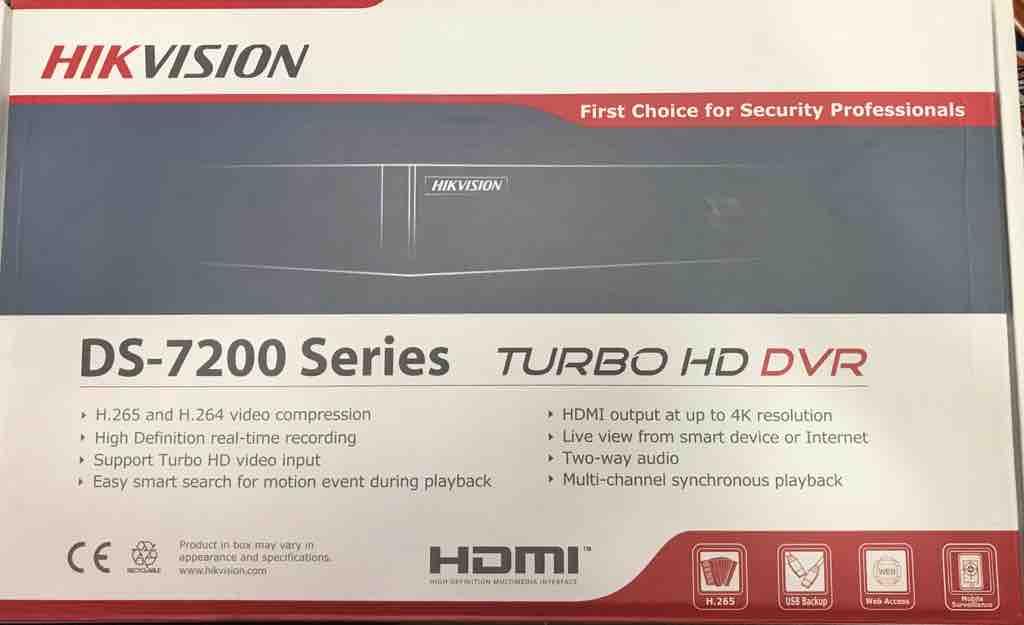 Hikvision 8ch Dvr  DS- 7B08HQHI-K1 Metal Dvr CCTV Accessories