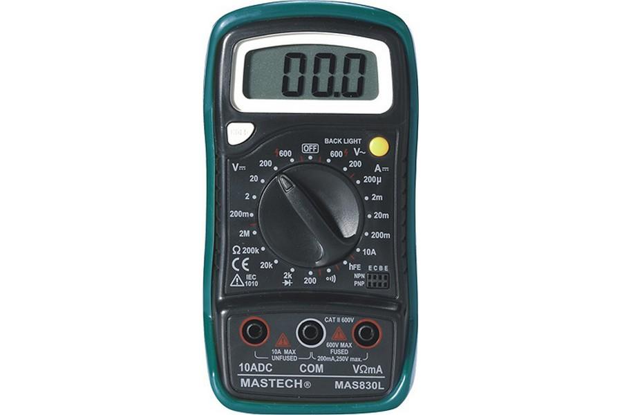 Mastech MAS830L Digital Multimeter (AC Voltage Range 0 to 600 V)