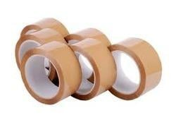Ambey B Grade Brown Self Adhesive Tape (50mtr X 1 Inch) Pack Of 12