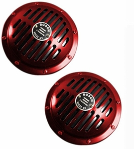 Bosch 12v Impact Horn Red For Passenger Cars - 2 Pcs