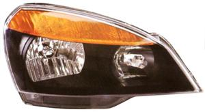 Lumax Head Lamp Assembly Yellow Strip & Black Paint For Tata Indigo Cs