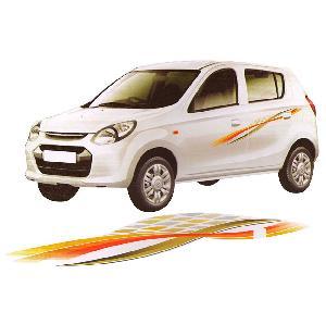 Buy Quara Gold Orange Car Side Decal Full Body Sticker Graphics For