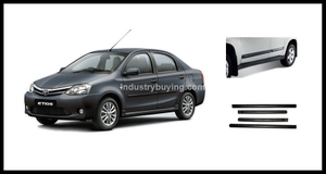 Oscar Chrome Celestial Black Side Mouldings For Toyota Etios
