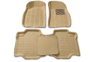 Oscar 3d Car Foot Mat For Honda Amaze (Beige)