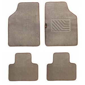 Speedwav Beige Carpet Floor Foot Mat For Hyundai I10