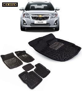 Coozo 3d Car Mat For Chevrolet Cruze Black Color