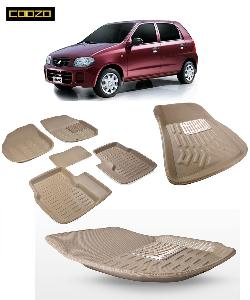 Coozo 3d Car Mat For Maruti Alto K10 Beige Color