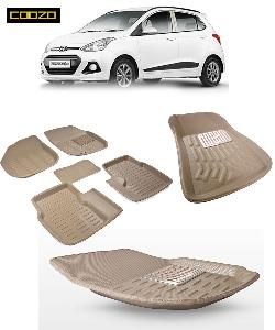Coozo 3d Car Mat For Hyundai I10 Grand Beige Color