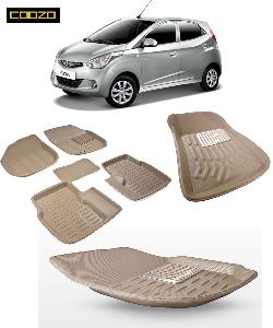 Coozo 3d Car Mat For Hyundai Eon Beige Color
