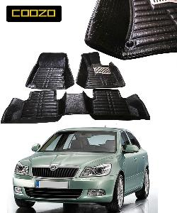 Coozo 5d Car Mat For Skoda Laura Black Color