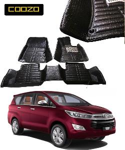 Coozo 5d Car Mat For Toyoto Innova Crysta Black Color