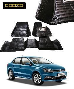 Coozo 5d Car Mat For Volkswagen Ameo Black Color