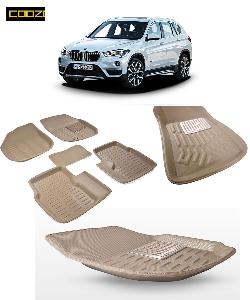 Coozo 3d Car Mat For Bmw X1 Beige Color