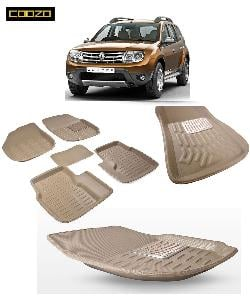 Coozo 3d Car Mat For Renault Duster Beige Color