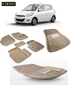 Coozo 3d Car Mat For Hyundai I10 Old Beige Color