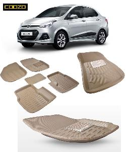 Coozo 3d Car Mat For Hyundai Xcent Beige Color