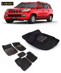 Coozo 3d Car Mat For Mahindra Tuv 300 Black Color