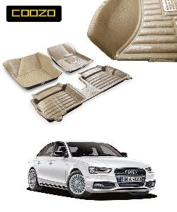 Coozo 5d Car Mat For Audi A4 Beige Color