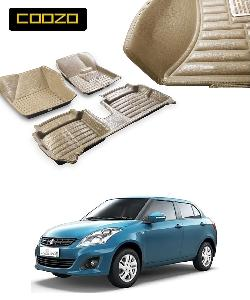 Coozo 5d Car Mat For Maruti Suzuki Swift Dzire Beige Color