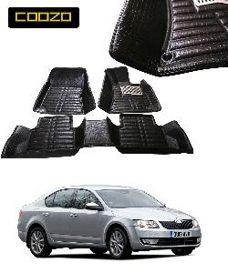 Coozo 5d Car Mat For Skoda Octavia Black Color