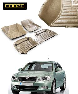 Coozo 5d Car Mat For Skoda Laura Beige Color