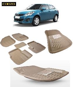 Coozo 3d Car Mat For Maruti Swift Dzire Beige Color
