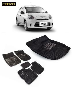 Coozo 3d Car Mat For Nissan Micra Black Color