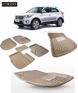 Coozo 3d Car Mat For Hyundai Creta Beige Color