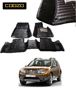 Coozo 5d Car Mat For Renault Duster Black Color
