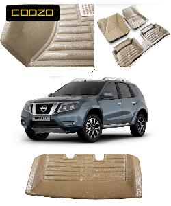 Coozo 5d Car Mat For Nissan Terrano Beige Color