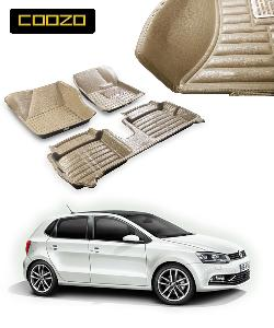 Coozo 5d Car Mat For Volkswagen Polo Beige Color