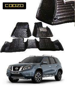 Coozo 5d Car Mat For Nissan Terrano Black Color