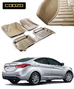 Coozo 5d Car Mat For New Hyundai Elantra Beige Color