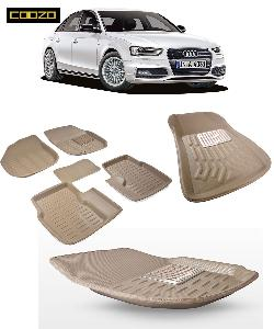 Coozo 3d Car Mat For Audi A4 Beige Color