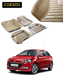 Coozo 5d Car Mat For Hyundai I20 Elite Beige Color