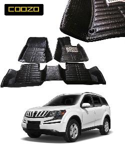 Coozo 5d Car Mat For Mahindra Xuv 500 With Dicky Black Color
