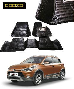 Coozo 5d Car Mat For Hyundai I20 Active Black Color