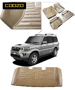 Coozo 5d Car Mat For Mahindra Scorpio Beige Color