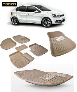 Coozo 3d Car Mat For Volkswagen Polo Beige Color