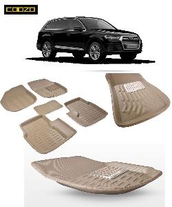 Coozo 3d Car Mat For Audi Q7 Beige Color
