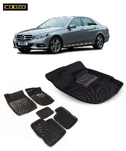 Coozo 3d Car Mat For Mercedes E Class Black Color